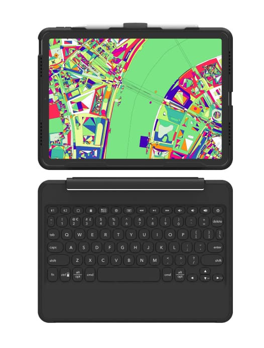 black attachable keyboard