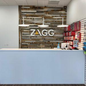 back wall of zagg store